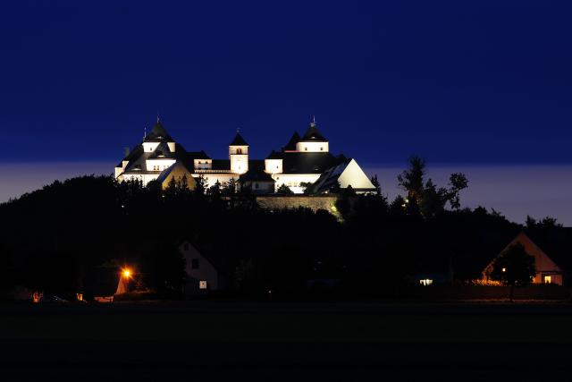 Augustusburg Schloss Abendaufnahme