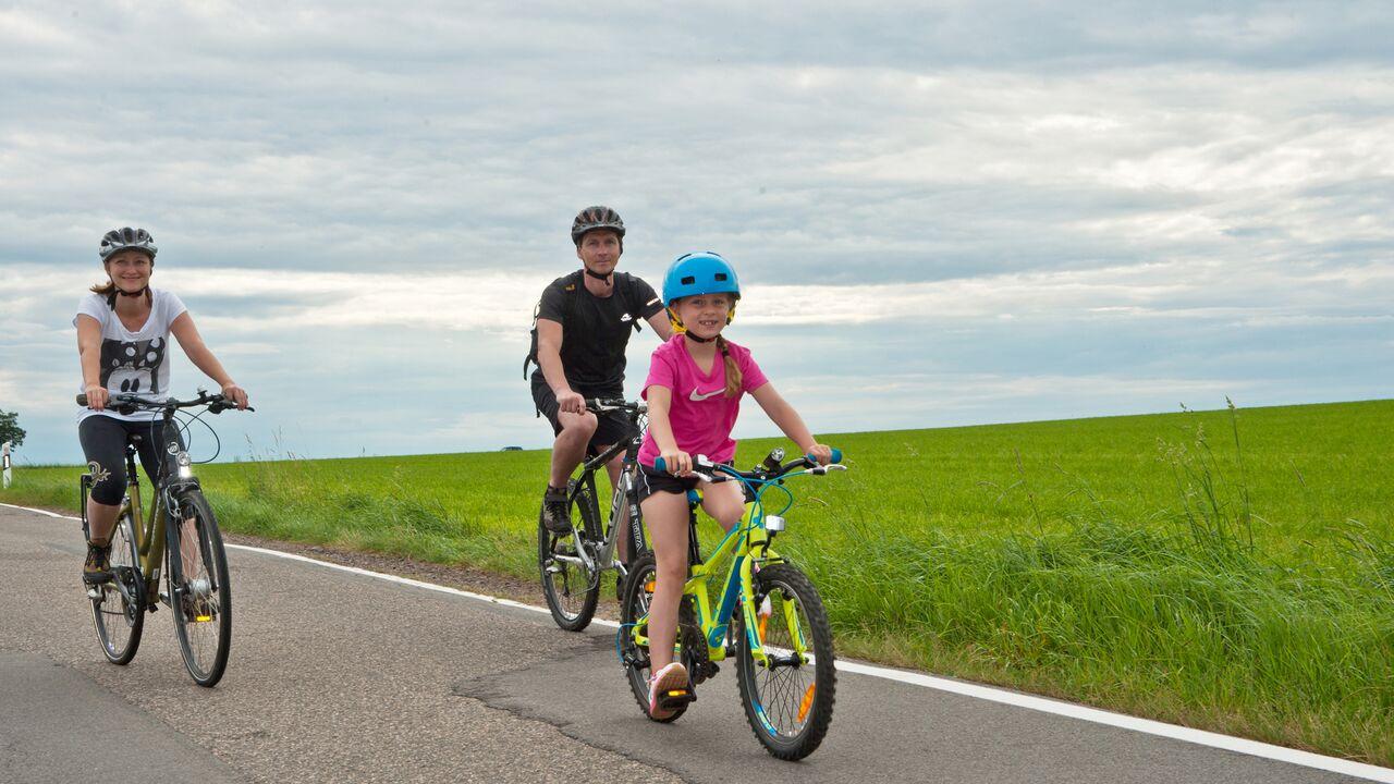 Eine Radtour mit der Familie