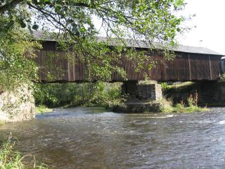 Überdachte Holzbrücke Hennersdorf