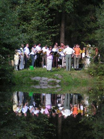 Augustusburg Posaunenchor Serenade am Teich