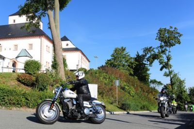 Augustusburg Schloss Biker
