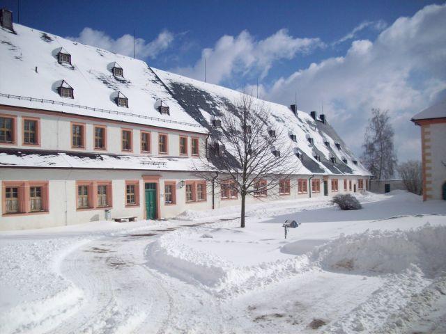 Augustusburg Jugendherberge Winter