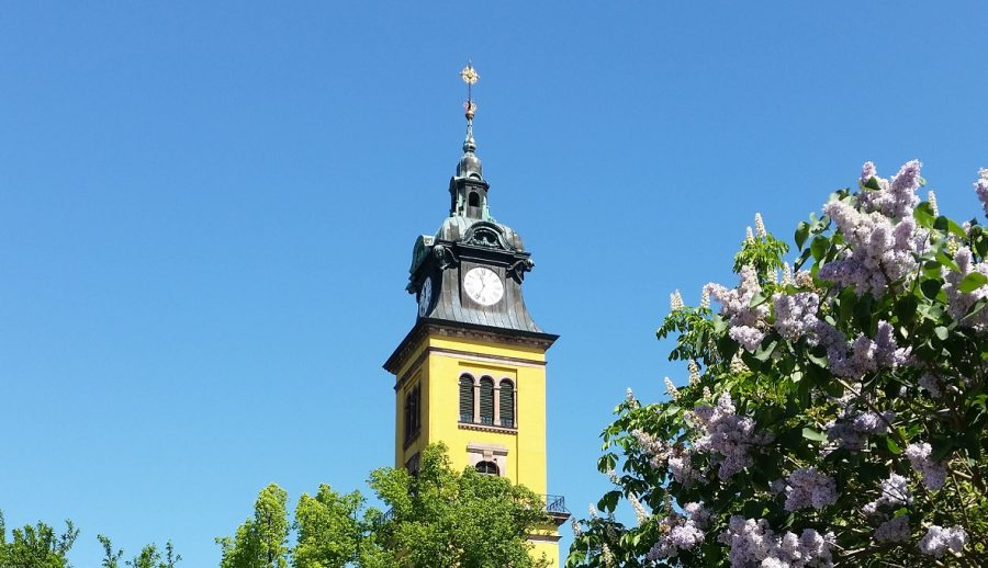 Augustusburg Kirchturm der Stadtkirche St. Petri
