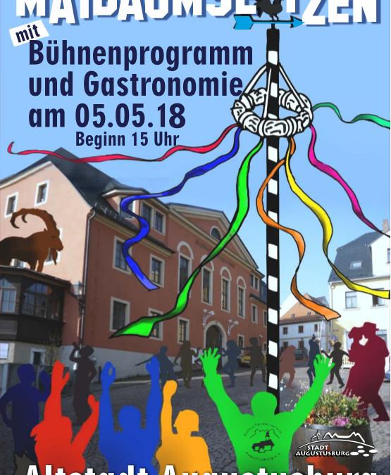 Maibaumsetzen in Augustusburg