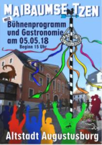 Augustusburg Maibaumsetzen