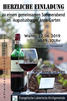 Sommerabend im Kurfürstin-Anna-Garten