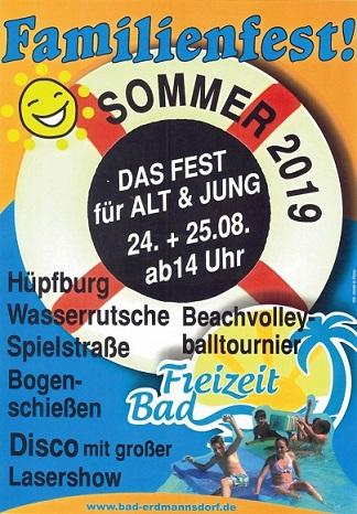 Badfest im Freibad Erdmannsdorf