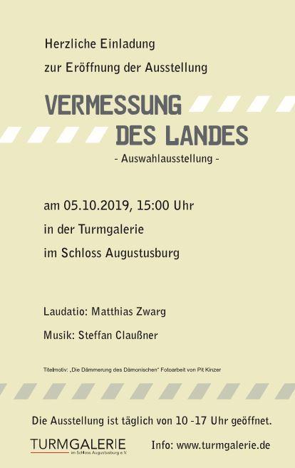 """Ausstellungseröffnung: """"Vermessung des Landes"""""""