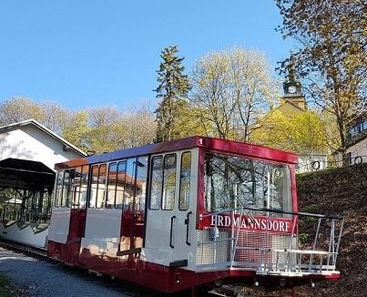 Kurze Pause für die Drahtseilbahn